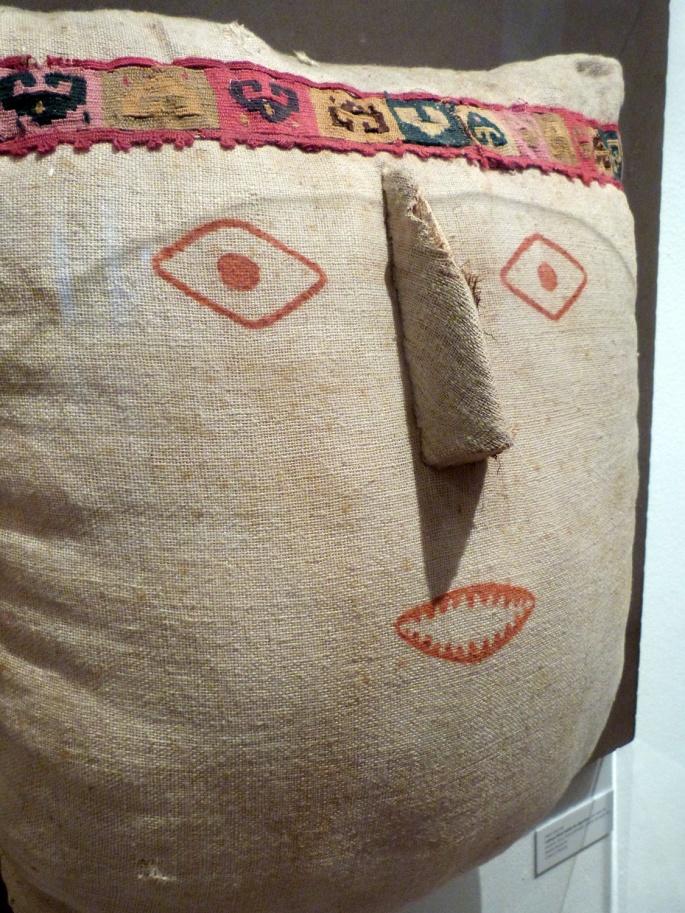 Tête factice de momie - Exposition temporaire Chancay Casa Garcilaso Lima